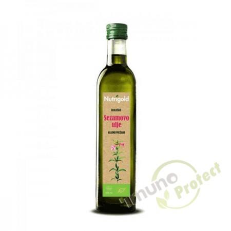 Sezamovo ulje - organsko hladno prešano Nutrigold, 500ml