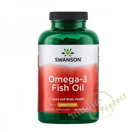Omega 3 riblje ulje s okusom limuna, Swanson 150 kaps