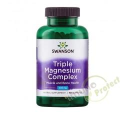 Trostruki magnezij kompleks Swanson, 400mg 100 kaps