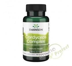 Kordiceps kompleks Swanson,  60 kapsula