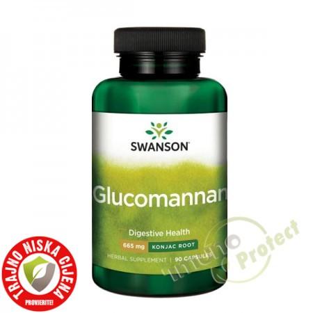 Glucomannan Swanson 100% prirodni, 665 mg