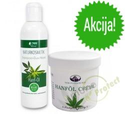 Krema od konoplje 250 ml + Šampon za kosu i tuširanje s prirodnim uljem konoplje 250ml