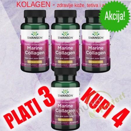 Hidrolizirani morski kolagen tipa I, 400 mg  - AKCIJA